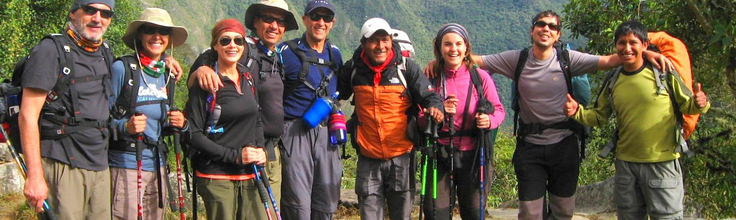 Inca Trail group of hikers