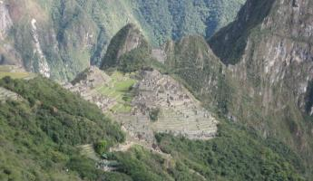 Arriving at Machu Picchu!