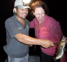 Night Spear Fishing on the New River in Belize