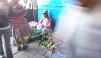 Local merchant in the Cusco markets