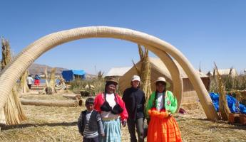The fam, Uros Floating Islands
