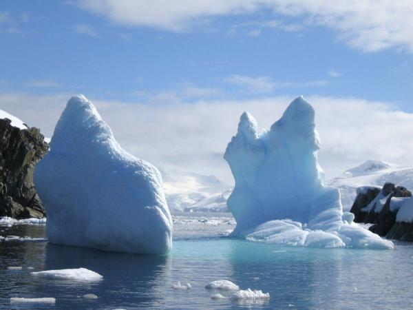Travel to Antarctica's icebergs
