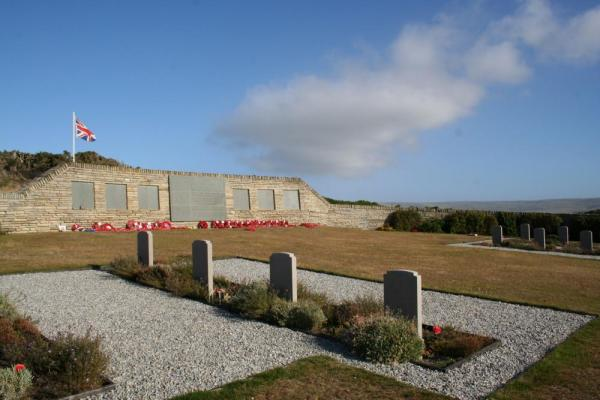 British Cemetery at San Carlos, seen on a day trip from Darwin