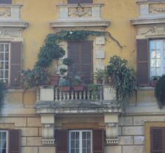 Beautiful balcony in Rome, Italy
