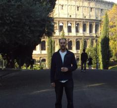 Our walk to the Colosseum