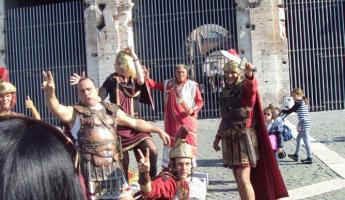 Gladiators outside the Colosseum