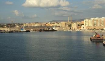 Civitavecchia Port town
