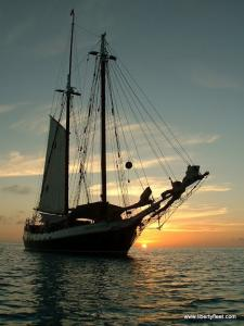 The Clipper at sunset