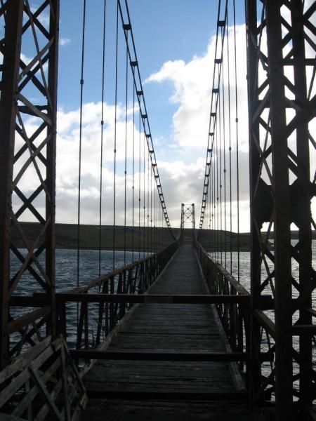 World's Southernmost Suspension Bridge- East Falkland