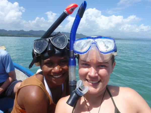 Snorkeling during a Rainforest Alliance Tour in Costa Rica