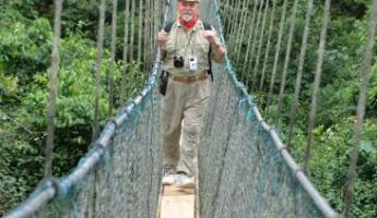 Explore Kakum National Park with the longest and highest suspended rope bridge in the world