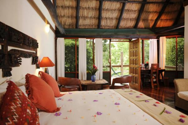 Rooms with a jungle view at the Lodge at Chaa Creek
