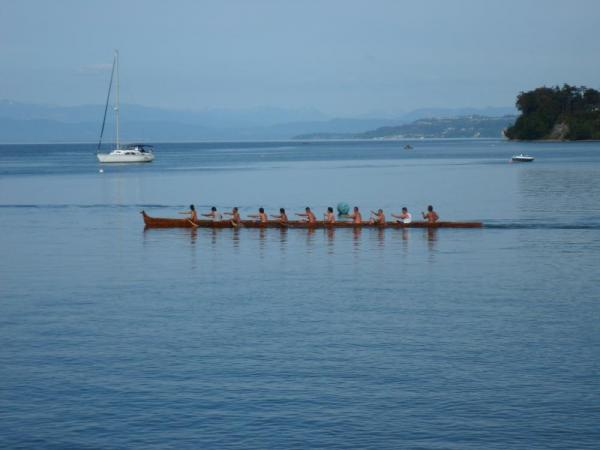 Native boat races seen during our Puget Sound cruise on the Safari Endeavor
