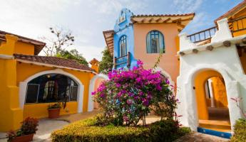 Take in the colors and beauty of Mantaraya Lodge in Puerto Lopez, Ecuador