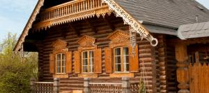 Elaborate wooden buildings