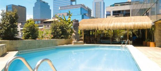Soak in the Chilean sun at the rooftop pool