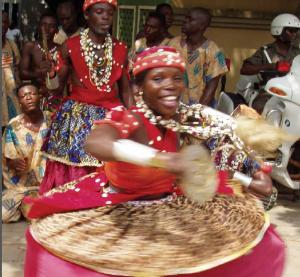Traditional dance performance in Porto-Novo, Benin