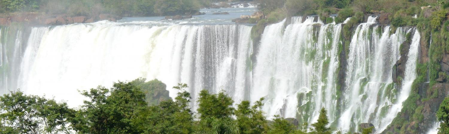 The powerful Iguazu Falls