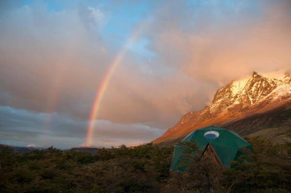 Rainbow over Torres del Paine