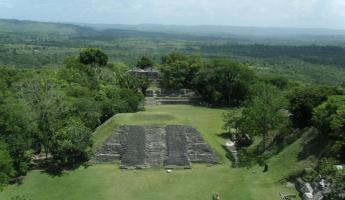 View from the top of the Xunantunich Ruins
