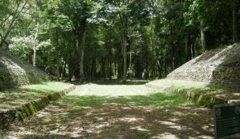 Ball court at Caracol