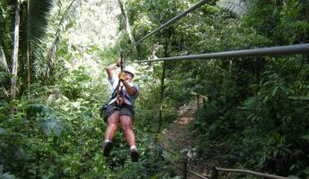 Zip line at Zipriders of Howling Hills!