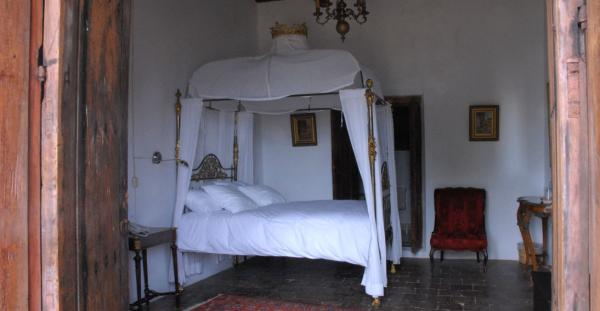 Rooms are furnished with artwork and furnishings from centuries past