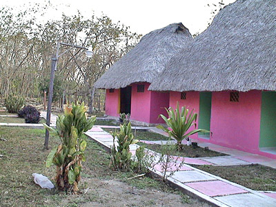 Cabanas are located near the Usumacinta River