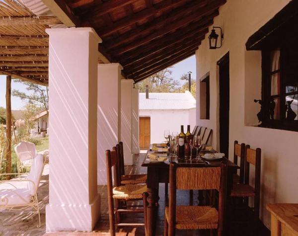 Dine out of doors on the verandah