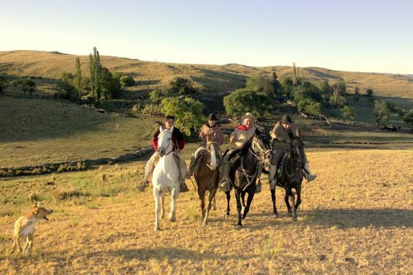 The estancia is a working farm and invites guests to participate
