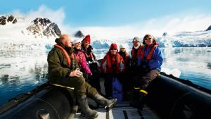 Enjoy excursions through icefields in your zodiac