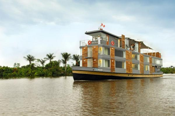 MV Aqua sailing through the Amazon