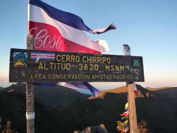One of the highest peaks in Central America. The top of Chirripo Peak.