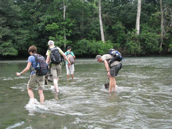 River crossing on the Corcovado trekking trip