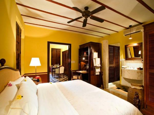 Rooms are located in the carefully restored historic hacienda building
