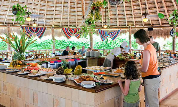 The buffet offers a wide variety of food selection