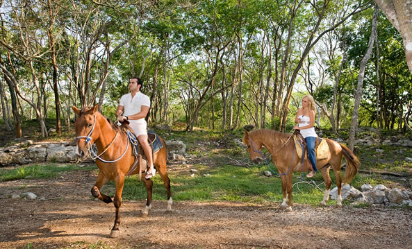 Take advantage of the miles of trails and explore by horseback