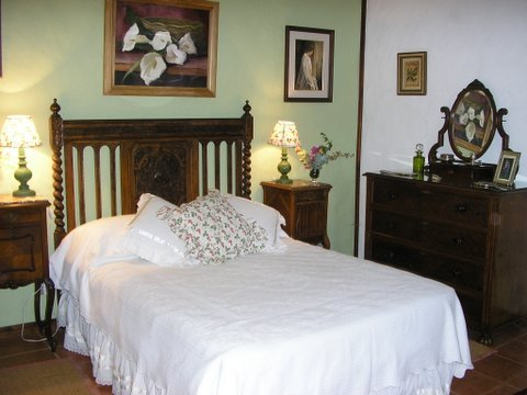 Rooms are decorated with antiques, full of historical character