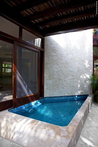 Suites include a private pool for your privacy and convenience