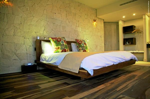 Rooms are decorated to harmonize with nature