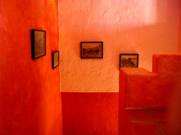 Ancient walls are washed in natural pigment paint