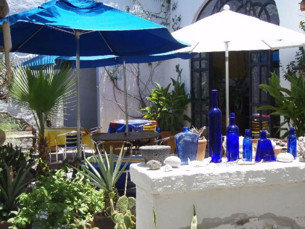 Enjoy breakfast in the shaded courtyard