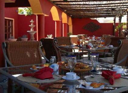Enjoy breakfast on the terrace