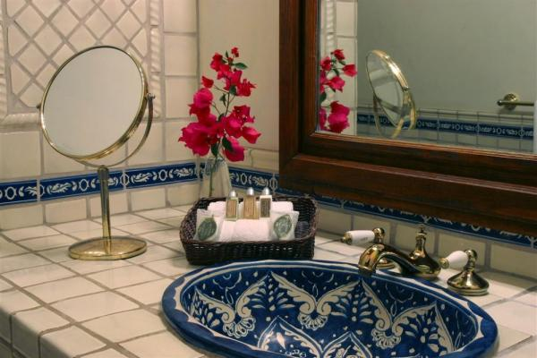 Beautiful tilework in the private baths