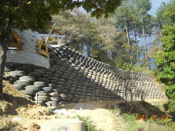 Construction of the retaining wall