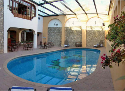 The Bar Hacienda is located by the pool