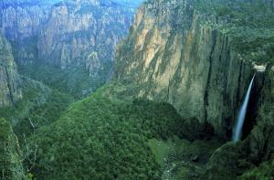 Basaseachic Falls in the Copper Canyon