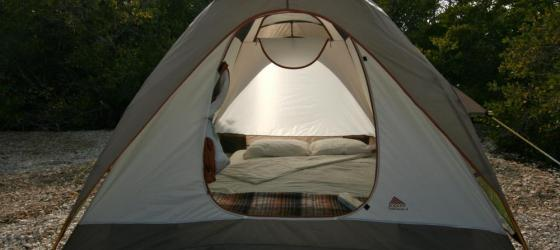 Comfortable tent accommodations