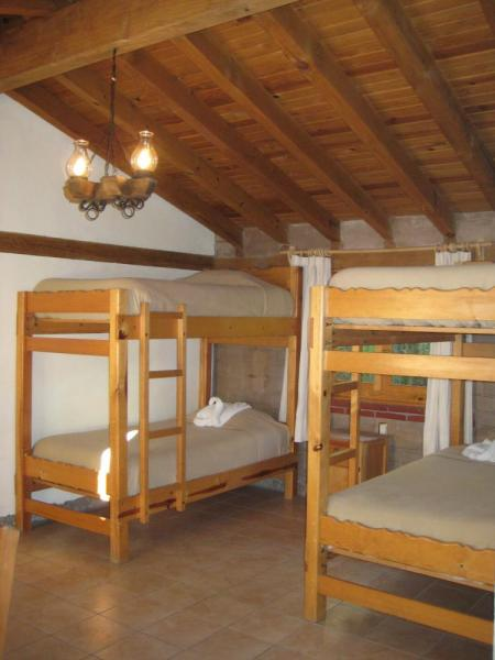 Accommodations are warm and welcoming with bunk beds and shared bathrooms