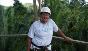 All smiles after a zip line tour through the rainforest!